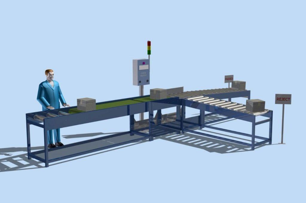 jual checkweigher conveyor